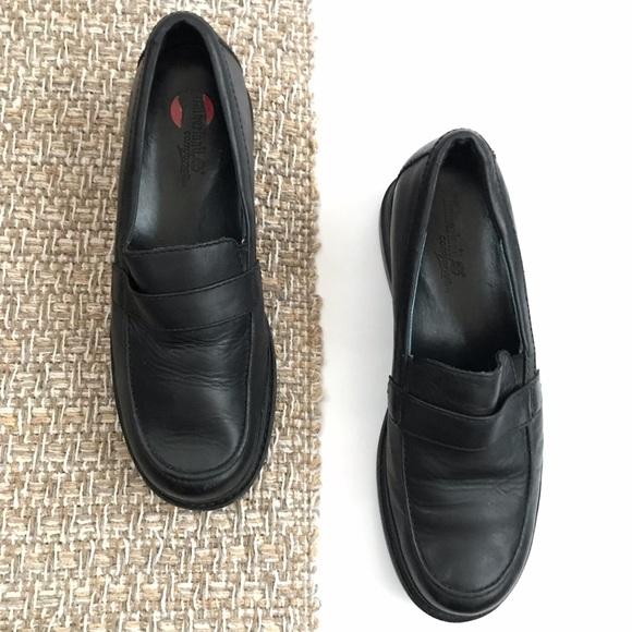 Black Leather Slipon Loafers   Poshmark